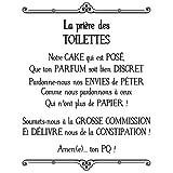Stickers prière des toilettes
