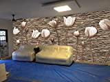 #1: OUTSTANDING 3D Wallpaper Available in All Size for Living room, Bed Rooms, TV Background, Area covers : (8.9 Height x 21.8 Width) feet