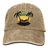 Baseball Cap Jamaica Rasta Flag Coconut Tree Men Women Golf Hats Polo Style Low Profile