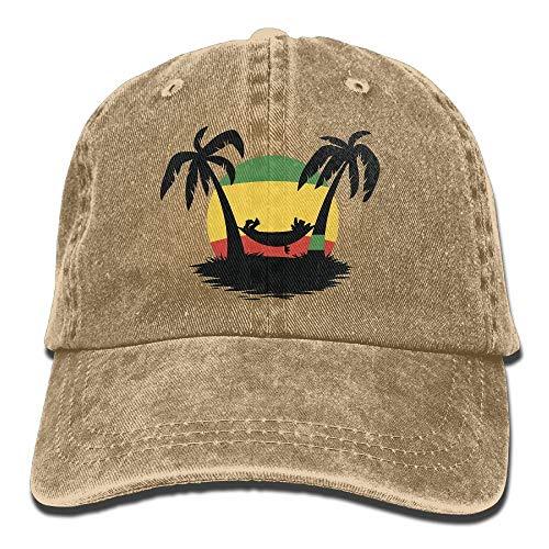 Baseball Cap Jamaica Rasta Flag Coconut Tree Men Women Golf Hats Polo Style Low Profile -