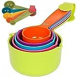 Combo Baking Measurement Measuring Cups 5 Pieces & Spoons 5 Pieces Set Of Each Big & Small (Multi-Colour)