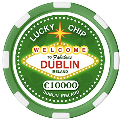 Carrolls Irish Gifts Irischer Pokerchip mit Text Welcome to Fabulous Dublin Dublin-chip