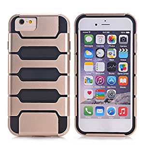 iPhone 6 Plus / iPhone 6S Plus, Nspire Cam Shell hard exterior soft protective interior Dual layer absorbs shock from drops scratch resistant (Apple iPhone 6 plus / iPhone 6S plus) (Gold)