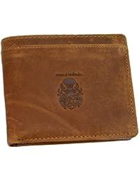 BARON of MALTZAHN - Geldbörse - Portemonnaie GETTY aus braunem Grassland-Leder