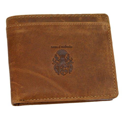 BARON of MALTZAHN Geldbörse Portemonnaie GETTY aus braunem Grassland-Leder (Aus Braune Geldbörse Leder)