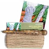 Plantoir en bois avec ficelle en jute
