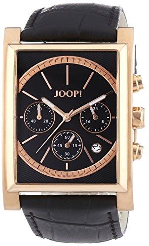 Joop! JP101381F03 - Reloj de cuarzo para hombre, con correa de cuero, color negro