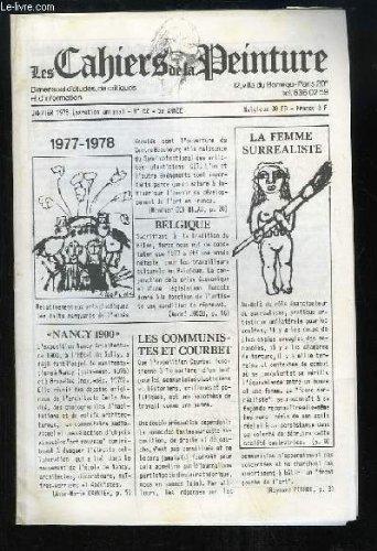 Les Cahiers de la Peinture N°62 - 5e année : La Femme Surréaliste - Les Communistes et Courbet - Nancy, architecture 1900 - Fédération Nationale des Beaux-Arts, de Robert VRINAT ...