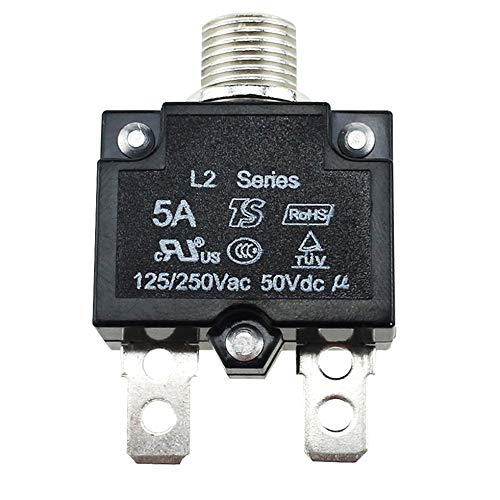 Sen-Sen 5A / 10A / 15A / 20A / 30A Drucktaster Rückstellbarer Thermoschutzschalter für Schalttafeleinbau schwarz 5A - Installieren Circuit Breaker 30a