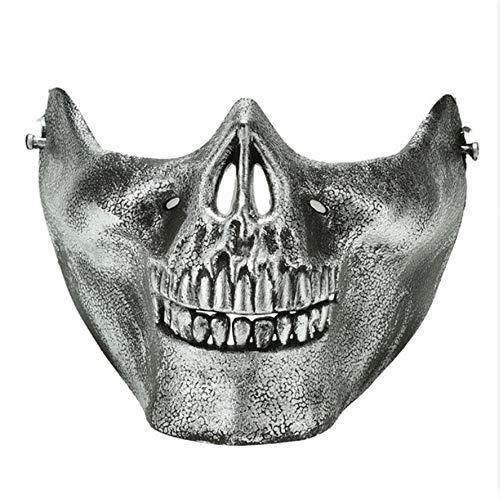 ll Skeleton Maske Halloween Kostüm Halbe Gesichtsmasken Für Party ()