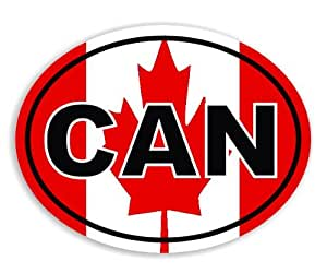CAN - Canadian - Canada Flag Voiture Autocollant / Car Sticker Sign