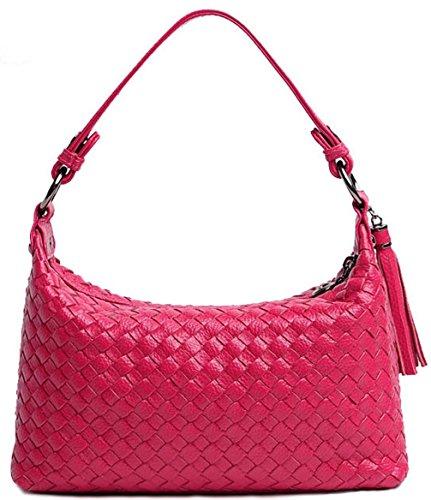 Keshi Leder Cool Damen Handtaschen, Hobo-Bags, Schultertaschen, Beutel, Beuteltaschen, Trend-Bags, Velours, Veloursleder, Wildleder, Tasche Saphirblau