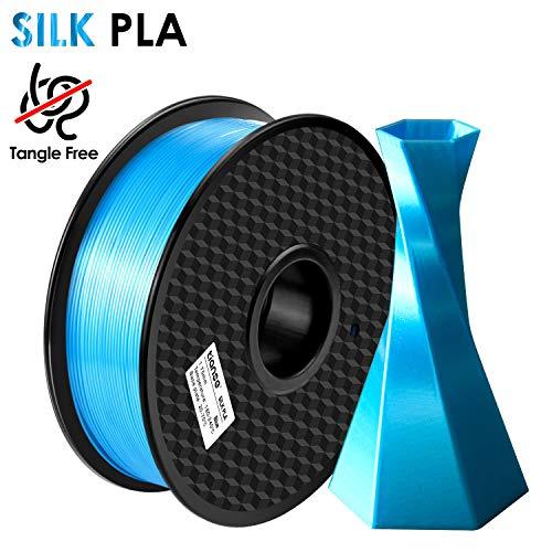TIANSE PLA Filament 1.75mm Silk Blau, 3D Drucker PLA filament 1kg Spool MEHRWEG