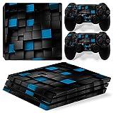 DolDer PlayStation 4 Pro (PS4 Pro) Skin Sticker/Aufkleber Folie schützende Haut Schale für Sony PS4 PRO Konsole und 2 Dualshock Controller - 0736