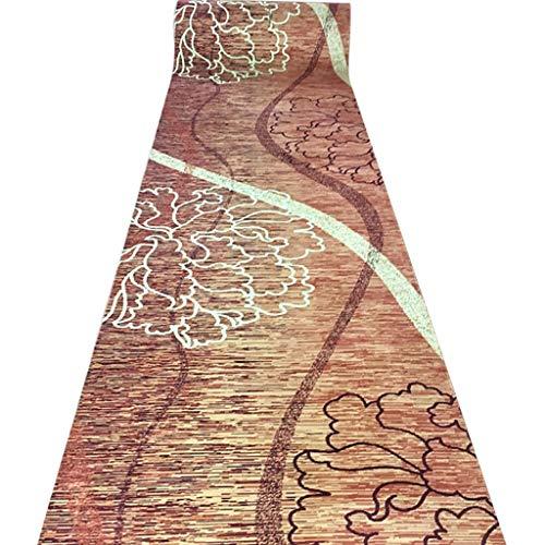 SESO UK- Retro Teppich Läufer für Flur und Treppen, klassischen Anti-Rutsch-Haus Langen Teppich Runner (Size : 80×400cm)