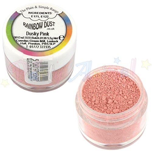 Rainbow Dust - Plain & Simple - Dusky Pink (rose) - poudre de colorant alimentaire comestible pour la décoration de gâteau
