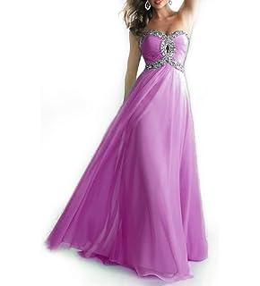 Abito Cerimonia Donna Fashion Moderno da Discoteca Party Sera Ballo o Festa Vestiti Lunghi Ragazza in Chiffon Eleganti per Sposa Cerimonia e Damigella