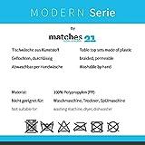 matches21 Tischset Platzset MODERN Platzmatten 4er Set geflochten Kunststoff 45x30 cm Schwarz / abwaschbar / erhältlich in vielen aufregenden Farben Platzdeckchen vom Tischwäsche Spezialist - 3