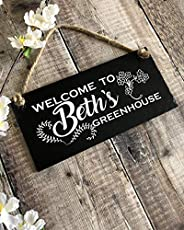 PERSONALISED garden sign Welcome to my greenhouse sign Gift for gardener SLATE SIGN