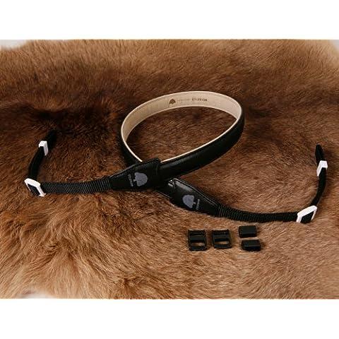 Matin Foxy 20 - Correa de piel para cámara de fotos, color negro