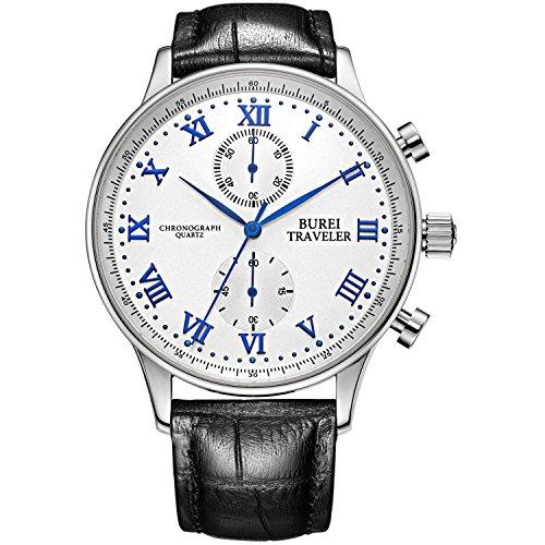 Burei cronografo uomo orologi Business quarzo orologi vestito quadrante...