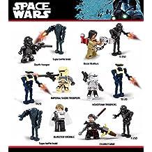 12PCS D910 Star Wars Minifigures TX20 K-2SO Battle droid Darth Hovertank Imperial Shore Tropper Building Toys