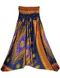 Pantaloni Donna Pantaloni A Vita Style Stampa Alta con Festa Harem Fantasia  Pantaloni A Vita Alta f89dd3a2bf62