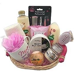 Cumpleaños Gracias día de la madre Pamper cesta cesta de regalo