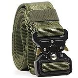 APERIL Cinturón Táctico Militar Ajustable Cintura Hombres Lona Nylon Hebilla de Metal para Entrenamiento de Caza Ejército Que se Ejecuta