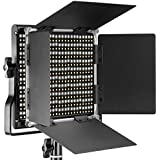 Neewer Panel Luz LED regulable bicolor con soporte staffa-u y Barndoor luz profesional para Studio, YouTube, fotos de productos y grabación video, cáscara de metal Durevole, 660 bombillas LED, 3200 - 5600 K, CRI 96 + (enchufe UK/UE)