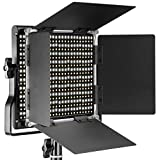 Neewer Pannello Luce LED Dimmerabile Bicolore con Supporto Staffa-U e Barndoor Luce Professionale per Studio, YouTube, Foto di Prodotti e Registrazioni Video, Guscio in Metallo Durevole, 660 Bulbi LED, 3200-5600K, CRI 96+ (Spina UE)