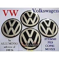 VOLKSWAGEN VW NERO Coprimozzi Tappi Cerchi Wheels 9 cm 90 mm GOLF POLO BEETLE FOX