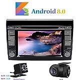 Android 8.0 Autoradio, Hi-azul 2 Din 7 Pouces Car Radio 8-Core RAM 4G ROM 32G Car Audio Récepteur de Radio de Voiture Stéréo Voiture pour Fiat Bravo(2007-2012) (avec Caméra de Recul et DVR)