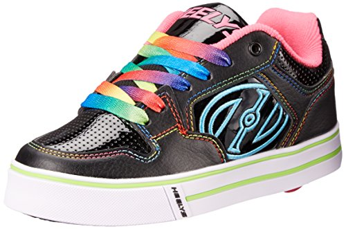 Heelys Motion Plus Black/Pink/Rainbow Kids 1uk