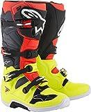 Bottes Moto Cross ALPINESTARS Tech 7 Yellow Fluo Red Fluo Gray Black-51