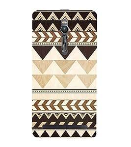 FUSON Tribal Seamless Pattern 3D Hard Polycarbonate Designer Back Case Cover for Asus Zenfone 2 ZE551ML