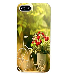 ColourCraft Beautiful Bouquet Bike Design Back Case Cover for APPLE IPHONE 5