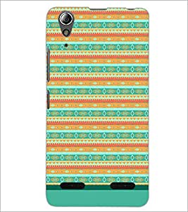PrintDhaba Tribal Pattern D-1733 Back Case Cover for LENOVO A6000 PLUS (Multi-Coloured)