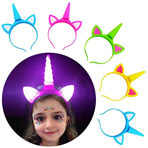 Halloween-Stirnband mit Einhorn-Motiv, für Geburtstag, Halloween, Party, Cosplay, -