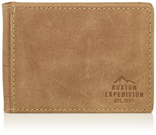 Buxton Men's Expedition Ii Rfid Leather Front Pocket Money Clip Wallet - Front Pocket Money Clip