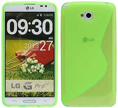 S-Line TPU SchutzHülle für LG G PRO LITE DUAL SIM D686 Silikon Hülle in Grün @ Energmix
