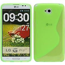 S Line TPU–Carcasa para LG G Pro Lite Dual SIM D686funda de silicona en verde @ Energmix
