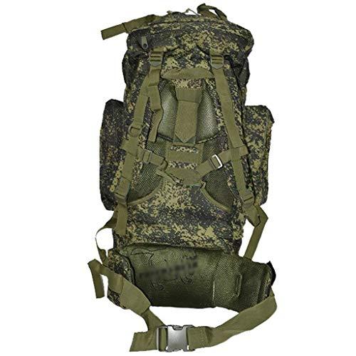GRSJB 65L armée Camouflage Sac à Dos, Grand Sac à Dos Tactique Sac Support de Pluie Housse de Pluie Alpinisme spécial Preuve de l'eau résistant Sports de Plein air Chasse assaut Sac Combat Combat