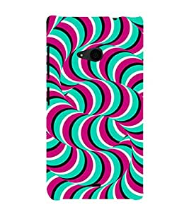 EPICCASE abstract worms Mobile Back Case Cover For Nokia Lumia 535 (Designer Case)