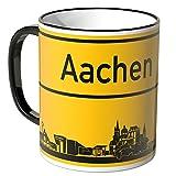 Wandkings® Tasse, Skyline Aachen - SCHWARZ