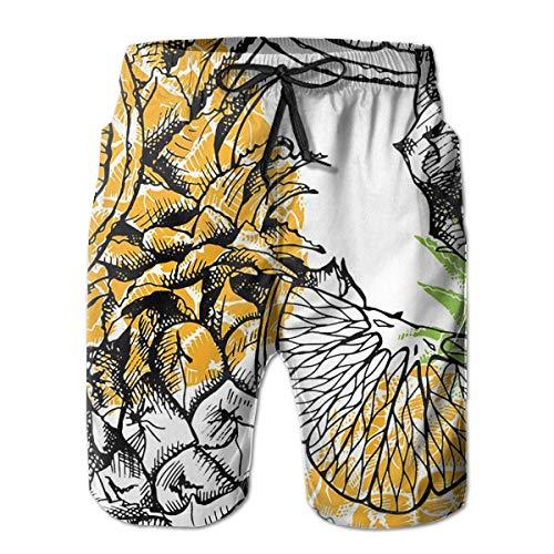 Nacasu Men's Summer Surf Swim Trunks Beach Shorts Pants Quick Dry with Pockets XXL