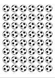 48 rondes comestibles Papier Cake Toppers décorations Football