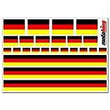 Flaggenaufkleber DEUTSCHLAND - 24 Aufkleber für Auto, Boot, Fahrrad und Motorrad