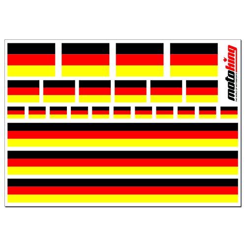 Preisvergleich Produktbild Flaggenaufkleber DEUTSCHLAND - 24 Aufkleber für Auto,  Boot,  Fahrrad und Motorrad