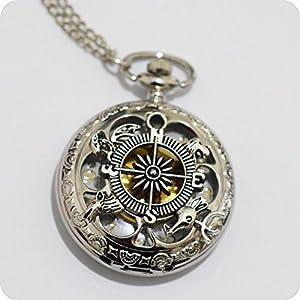 Ciondolo bussola orologio collana pendente ciondolo a for Bussola amazon